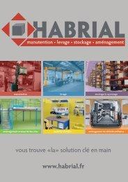 Le catalogue produit Habrial