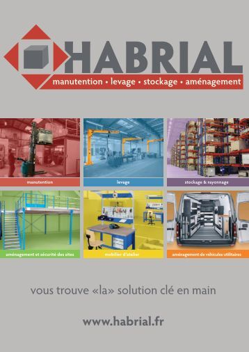 Le catalogue produit Habrial