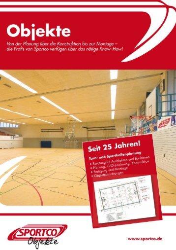 "Sportco-Einbaugerätekatalog ""Objekte"" 2017"