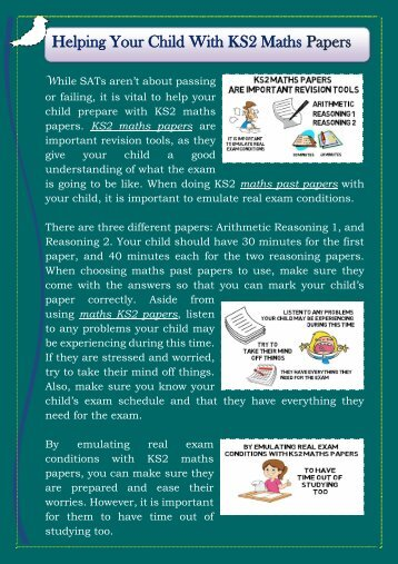 Helping Your Child With KS2 Maths Papers