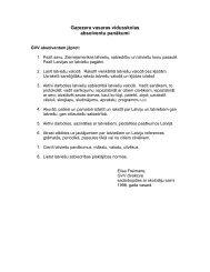 GVV macibu vadlinijas - Garezers