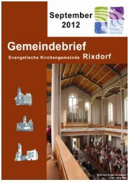 September 2012 - Ev. Kirchengemeinde Rixdorf
