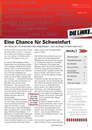 Eine Chance für Schweinfurt - DIE LINKE Schweinfurt