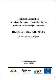 ES SFKF VIS Biznesa rokasgrāmata - ES fondi