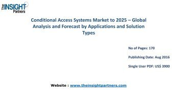 Conditional Access System Market Opportunities, Future Trends and Key Industry Dynamics 2016-2025
