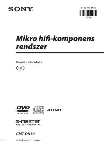 Sony CMT-DH30 - CMT-DH30 Consignes d'utilisation Hongrois