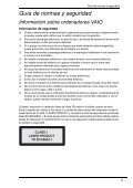 Sony VGN-Z41VRD - VGN-Z41VRD Documenti garanzia Spagnolo - Page 5