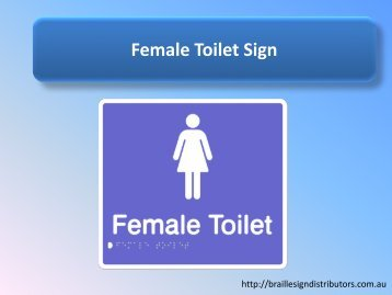 Female Toilet Sign - Braille Sign Distributors