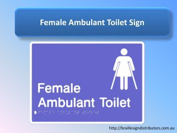Female Ambulant Toilet Sign - Braille Sign Distributors