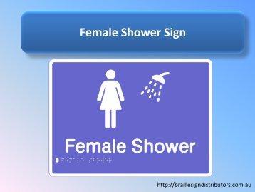 Female Shower Sign - Braille Sign Distributors