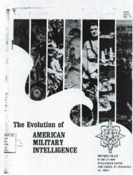 The Evolution of American Military Intelligence - Federation of ...