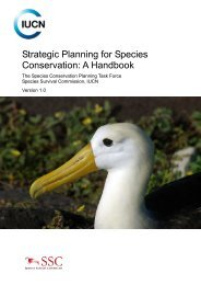 Strategic Planning for Species Conservation: A Handbook - IUCN