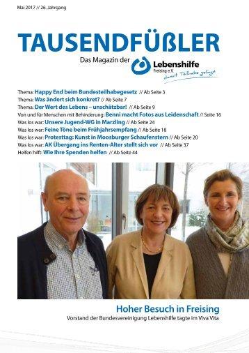 2017 MAI / LEBENSHILFE FREISING / TAUSENDFÜSSLER-MAGAZIN