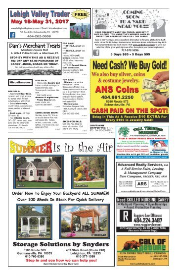 Lehigh Valley Trader May 18-May 31, 2017 issue