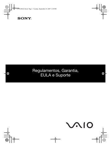 Sony VGN-TZ2RMN - VGN-TZ2RMN Documents de garantie Portugais