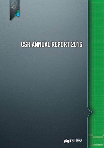 CSR Annual Report 2016