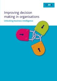 Unlocking business intelligence - CIMA
