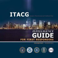 Intelligence Guide for First Responders - NCTC
