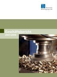 Unsere Beteiligungen - Geschäftsbericht 2010/2011 - Deutsche ...