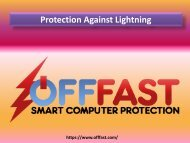 Protection Against Lightning - Off Fast