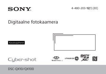 Sony DSC-QX10 - DSC-QX10 Mode d'emploi Estonien