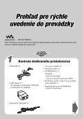 Sony NW-HD3 - NW-HD3 Istruzioni per l'uso Slovacco - Page 2