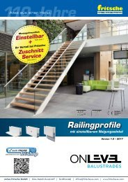 Baubeschlaege - ONLEVEL Railingprofile