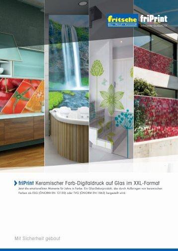 Flachglas - Glasdruck - friPrint Motive