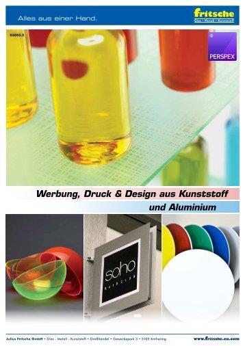 Kunststoff - Kunststoffe und Aluminium für Werbung Druck und Design