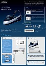 Sony HMZ-T1 - HMZ-T1 Guide de mise en route Italien