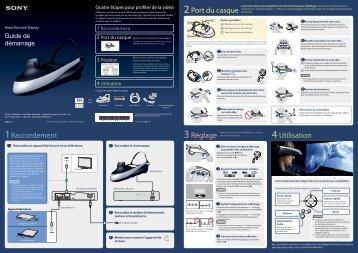 Sony HMZ-T1 - HMZ-T1 Guide de mise en route