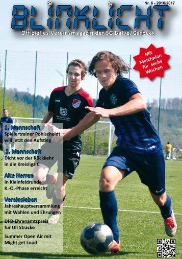 Blinklicht Nr. 6 - Saison 2016/2017