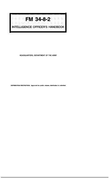 Intelligence Officer's Handbook - Federation of American Scientists
