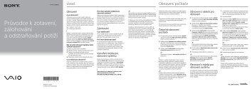 Sony SVE1512S1R - SVE1512S1R Guide de dépannage Tchèque