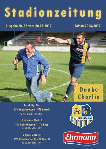 20170520 Stadionzeitung TSV Babenhausen - VfB Durach
