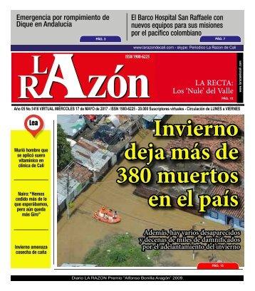 Diario La Razón miércoles 17 de mayo de 2017