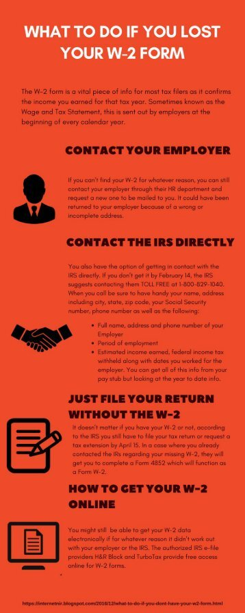 What to Do If You Lost Your W-2 Form