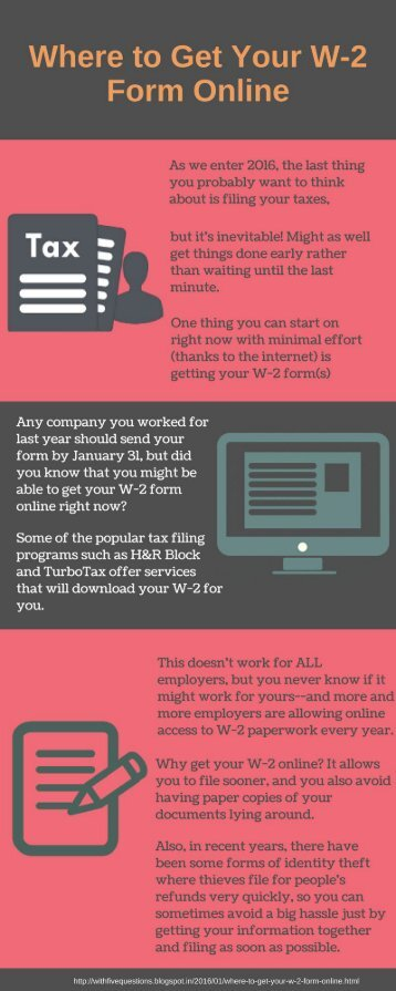 Where to Get Your W-2 Form Online