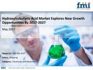 Hydroxyisobutyric Acid Market Explores New Growth Opportunities By 2017-2027