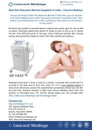Best Hair Reduction Machine Suppliers In India – Concord Medisys