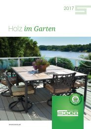 SECA Holz im Garten Katalog 2017
