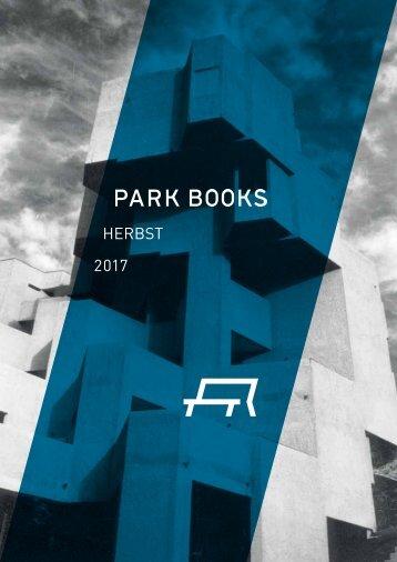 Park Books Vorschau Herbst 2017