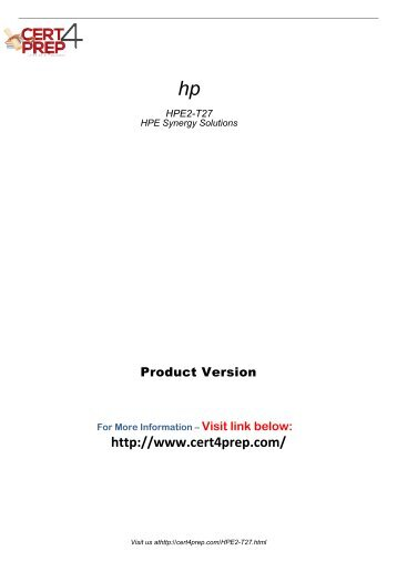 HPE2-T27 Practice Test Software