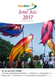 Juni/ Juli-Programm HausDrei