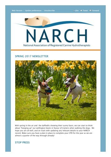 NARCH Spring 2017 Newsletter