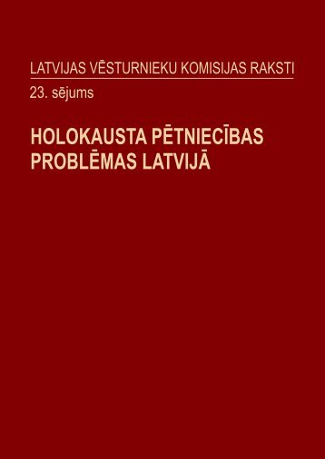 Latvijas Vēsturnieku komisijas raksti - 23.sējums