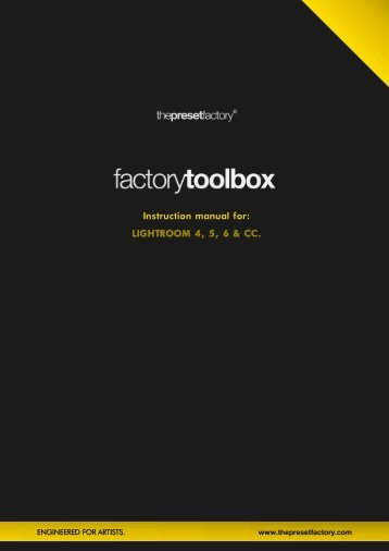 Factory Toolbox - Instruction manual