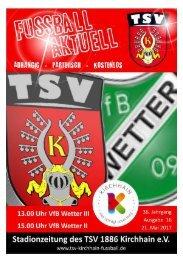 21.05.2017 Stadionzeitung - VfB Wetter