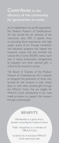 MMoCA Circle: Planned Giving Opportunities at the Madison Museum of Contemporary Art - Page 4