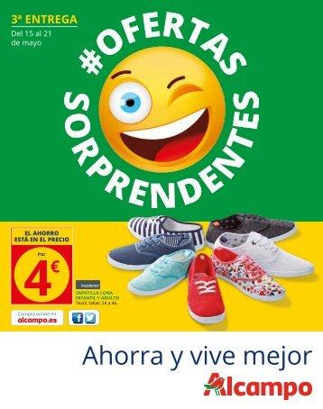 ALCAMPO OFERTAS SORPRENDENTES del 15 al 21 Mayo 2017